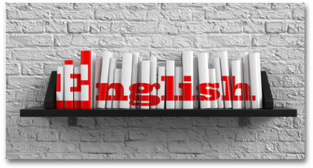 Plakat - English. Education Concept.