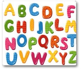 Plakat - Colorful alphabet letters