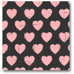 Plakat - Chalkboard Hearts Pattern