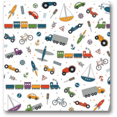 Plakat - traffic elements pattern on white background