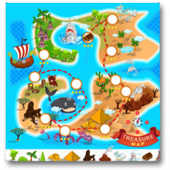 Plakat - Pirate Treasure Map