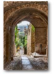 Plakat - antique Italian alley