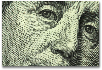 Plakat - one hundred dollar bill closeup