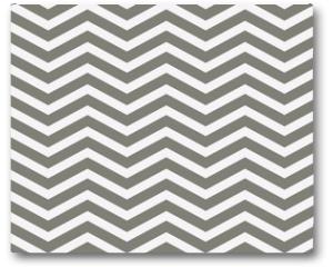 Plakat - Gray and White Zigzag Textured Fabric Background
