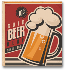 Plakat - Retro beer vector poster