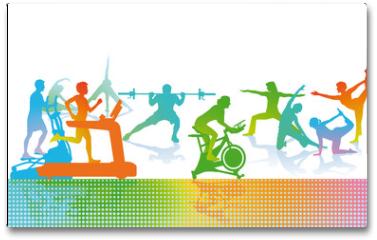 Plakat - Fitness und Sport