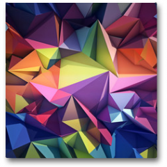 Plakat - Abstract geometric background