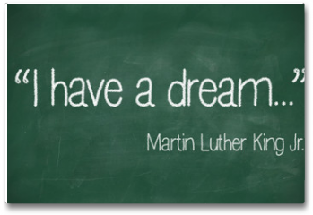 Plakat - I have a dream saying