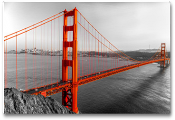 Plakat - Golden Gate, San Francisco, California, USA.
