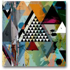Plakat - abstract art illustration, triangles,vector format