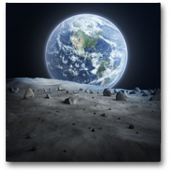 Plakat - Earth seen from the moon.