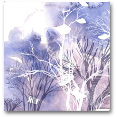 Plakat - Abstract silhouette of trees