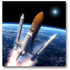 Plakat - Space Shuttle Solid Rocket Boosters Separation