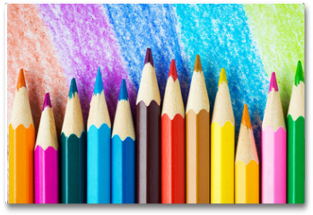 Plakat - Colored pencils background