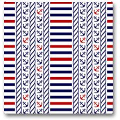 Plakat - Nautical seamless pattern. Vector illustration.