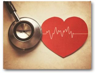 Plakat - heart and stethoscope