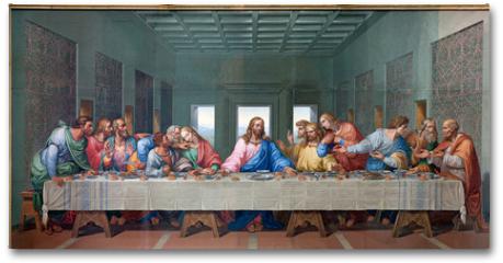 Plakat - Vienna - Mosaic of Last supper - copy Leonardo da Vinci