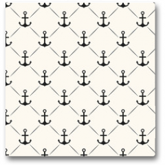 Plakat - Seamless vector pattern of anchor shape and line