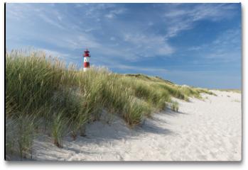 Plakat - Lighthouse on dune horizontal