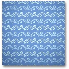 Plakat - Wave different seamless patterns (tiling)