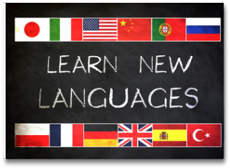 Plakat - Learn new languages