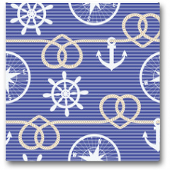 Plakat - Nautical seamless pattern