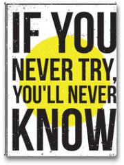 Plakat - inspiration motivation poster. Grunge