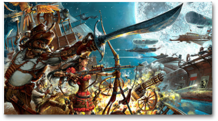 Plakat - Steampunk forever, background for your desktop