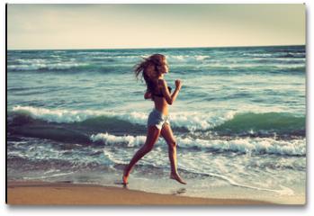 Plakat - active on beach