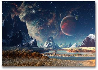 Plakat - Alien Planet - 3D rendered computer artwork