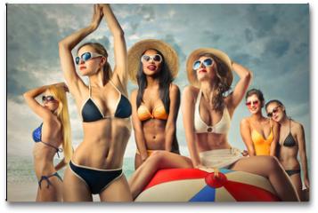 Plakat - Girls at the beach
