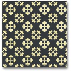 Plakat - Retro vector gym seamless pattern