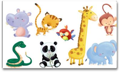 Plakat - animales salvajes bebe