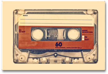 Plakat - Retro styled image of an old compact cassette