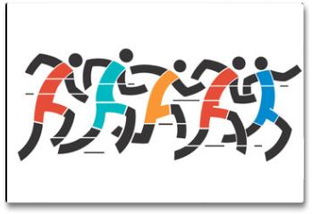 Plakat - Running race
