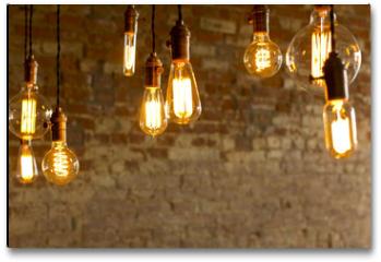 Plakat - Antique Light Bulbs