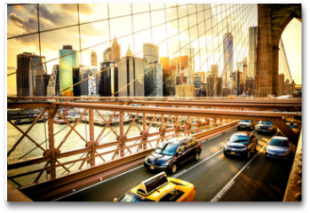 Plakat - New York City, Brooklyn Bridge skyline