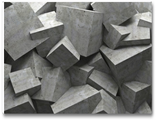 Plakat - cubes wall
