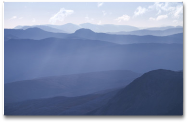 Plakat - Cold light of day over the Scottish Highlands.
