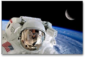 Plakat - Astronaut Spaceman Isolated Helmet