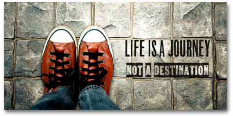 Plakat - Life is a journey not a destination, Inspiration quote