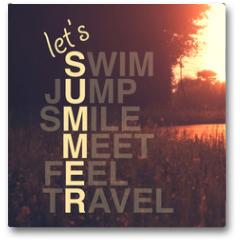 Plakat - Summer activity quote