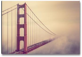 Plakat - Golden Gate Into the Fog