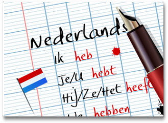Plakat - Cours de néerlandais (conjugaison)