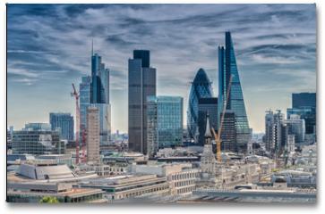Plakat - London City. Modern skyline of business district
