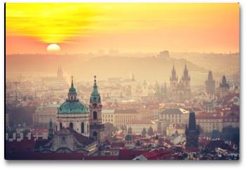 Plakat - Prague at the sunrise
