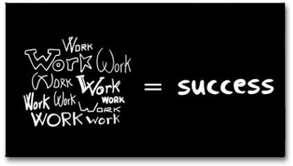 Plakat - success secret message