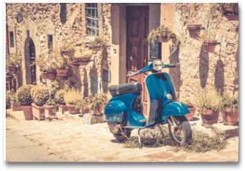 Plakat - Scooter in Tuscany
