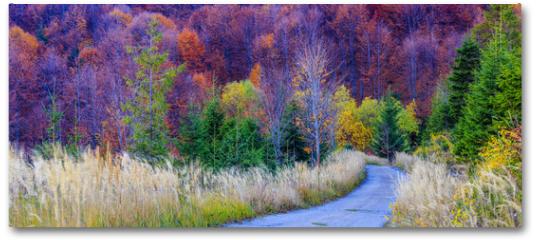 Plakat - Autumn in the Beskidy Mountains