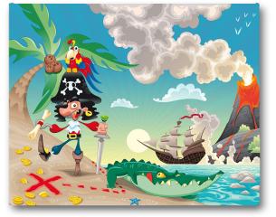 Plakat - Pirat na wyspie
